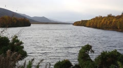 Autumn colour on Loch Ness, Scotland Stock Footage