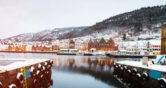 Bergen at Christmas - stock photo