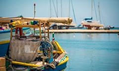 fishing boat in Marsaxlokk - stock photo