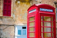 cardphone in a steet of Valletta - stock photo