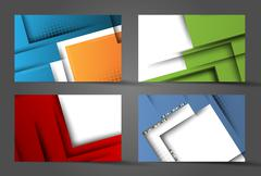corporate vector layouts - stock illustration