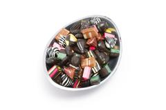 Bowl filled with liquorice candy Stock Photos
