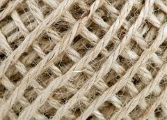 Hemp string background - stock photo