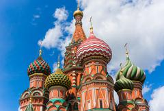 Fragment of the Saint Basil Cathedral - stock photo