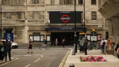 St James park underground station, London Stock Footage