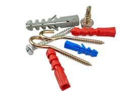 Set of fasteners Stock Photos