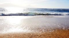 Ocean waves receding - stock footage