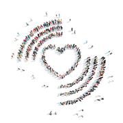 Stock Illustration of people in the shape of heart .