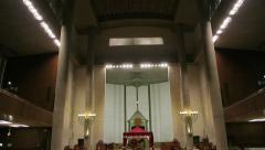 Jewish synagogue interior Stock Footage