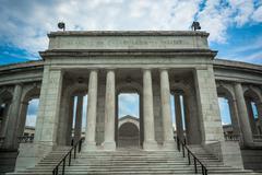 The Arlington Memorial Amphitheater in Arlington, Virginia. - stock photo