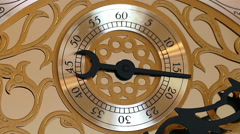 Antique clock with a second handVintage clock Stock Footage