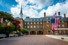 Stock Photo of Market Square and City Hall, in Alexandria, Virginia.