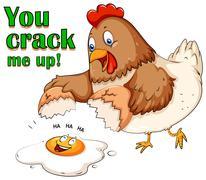 You crack me up - stock illustration