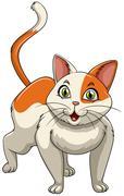 Cute kitten standing alone Stock Illustration
