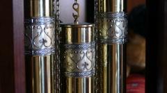 Weights and pendulum clock Stock Footage