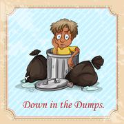 Down in the dumps Stock Illustration