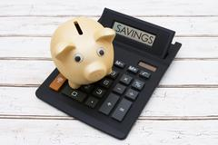 Calculating your Savings - stock photo