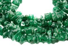 avanturine gemstone beads necklace jewelery - stock photo