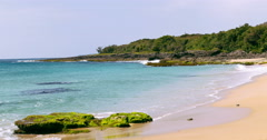 Seascape Of The Beach In Kenting National Park. 4K Stock Footage