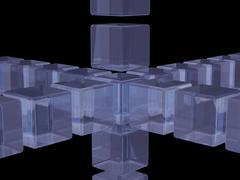 Glass cubes Stock Illustration