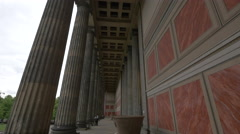 The ionic columns of Altes Museum in Berlin Stock Footage