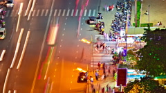 Night traffic timelapse Stock Footage