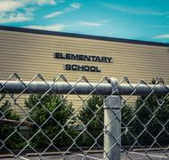 Stock Photo of Typical US Elementary School