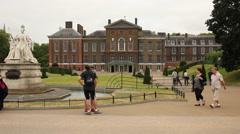 Kenisngton palace, London Stock Footage