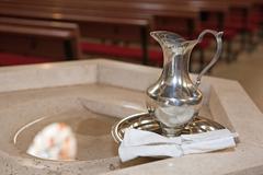 Baptism detail - stock photo