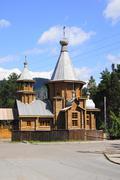 Orthodox St. Znamensky temple (town of Divnogorsk) - stock photo