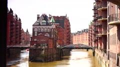 ULTRA HD 4K real time shot,Speicherstadt in Hamburg, Germany Stock Footage