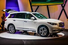 MOSCOW, RUSSIA - AUG 2012: INFINITI QX60 presented as world prem - stock photo