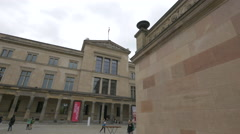 The Neues Museum in Berlin Stock Footage