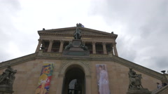 Entrance of Altes Nationalgalerie, Berlin Stock Footage