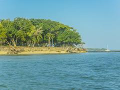 Tropical Island Resort in Cartagena Stock Photos