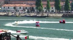 Powerboat trainings Stock Footage