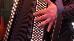 Player of accordion for the traditional feast of the Gypsies in the Camargue Stock Footage