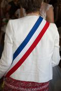 Scarf of a french mayor Stock Photos