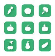 Modern flat icons - a healthy lifestyle, proper nutrition Stock Illustration