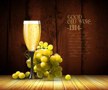 Wine and grapevine Stock Illustration