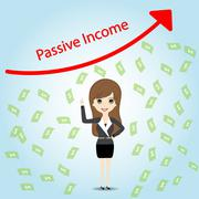 Stock Illustration of Passive Income and Financial Freedom