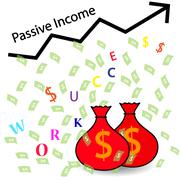 Passive Income and Financial Freedom Stock Illustration
