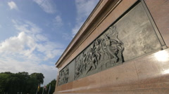 View of the bronze sculpture on Victory Statue, Berlin Stock Footage