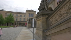 View of Alte Nationalgalerie entrance, Berlin Stock Footage