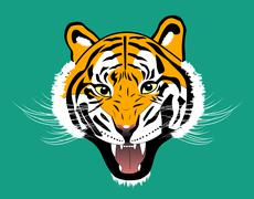 Stock Illustration of Tiger anger