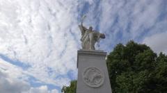 """Iris carries the fallen hero to Mount Olympus"" statue, Berlin Stock Footage"
