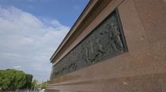 Bronze sculpture on Victory Statue, Berlin Stock Footage