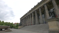 Altes Museum facade, Berlin Stock Footage