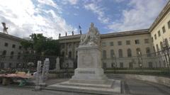 Statue of Alexander von Humboldt, Berlin Stock Footage
