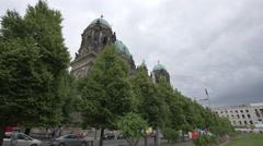 Berliner Dom seen from Lustagarten, Berlin Stock Footage